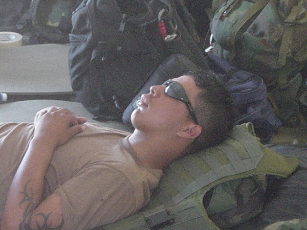 Officer Zamarripa during his military years. (Go Fund Me site set up to help his family).