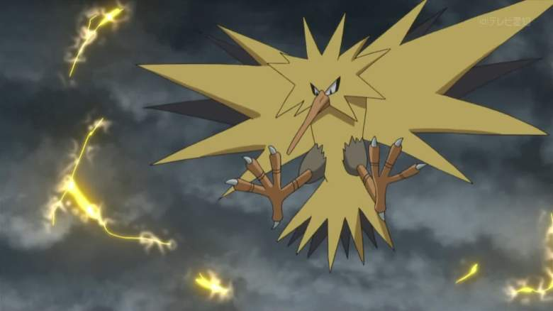 Team Instinct's mascot is Zapdos, the yellow avian Pokemon. (Pokemon Wiki)