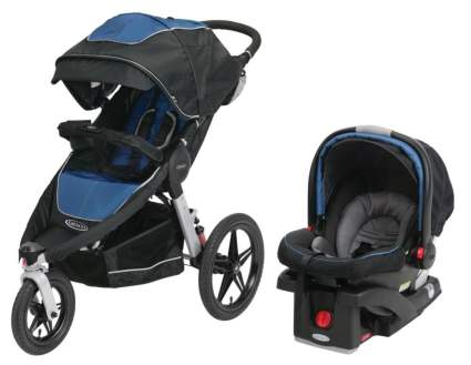 Graco Relay Travel System or SnugRide Click Connect 35, Jaguar with Infant Car Seat
