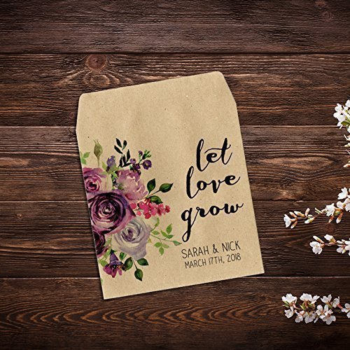 seed packet wedding favor