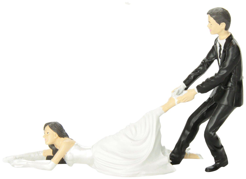 reluctant bride wedding cake topper