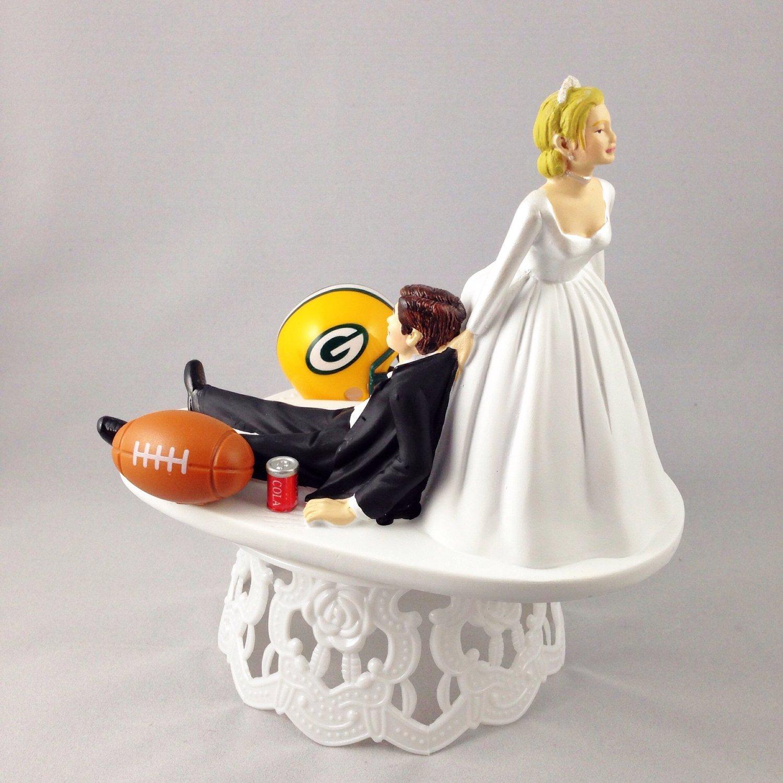 football themed wedding cake topper