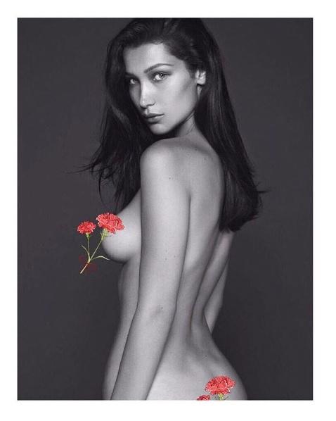 Bella Hadid, Bella Hadid French Vogue, Free the Nipple