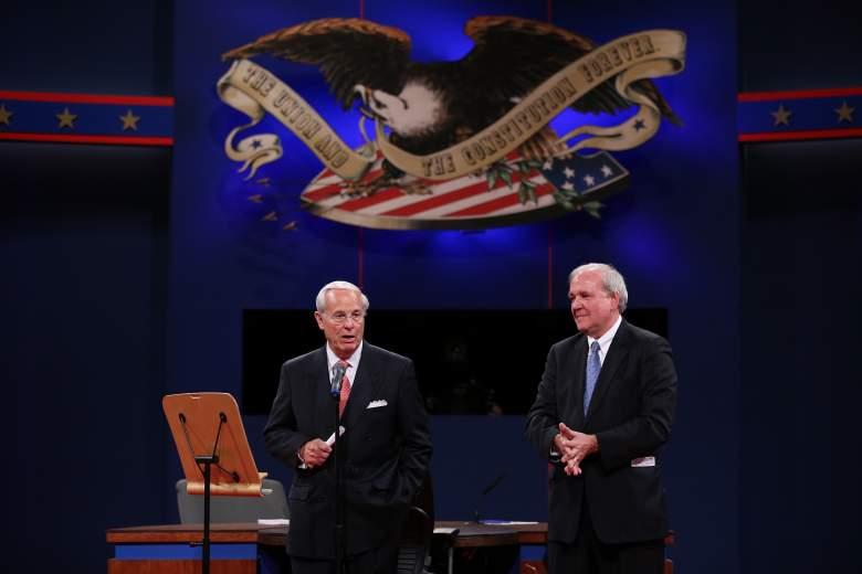 presidential debate moderator, hillary, donald trump, gary johnson 15 percent, debate, cpd