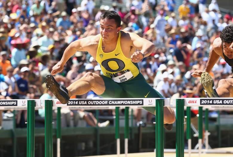 Devon Allen, Devon Allen hurdles, Devon Allen bio, Devon Allen Oregon, Rio Olympics