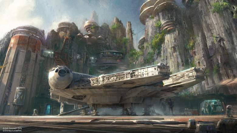 Millennium Falcon, Star Wars Land, Star Wars theme park, Star Wars disneyland