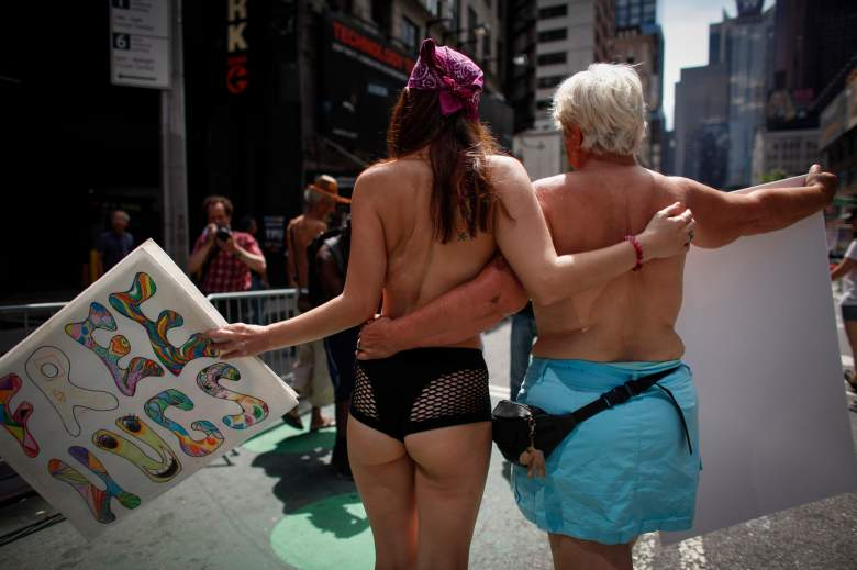 Topless, topless women, Go Topless Day, New York Go Topless Day