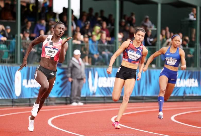 Tori Bowie, Tori Bowie running, Tori Bowie Olympics