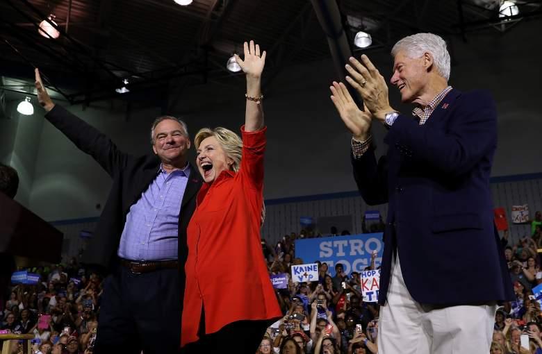 Hillary Clinton, Hillary Clinton campaign, Tim Kaine, Bill Clinton