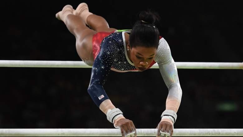 Gabby Douglas bar routine, Gabby Douglas Olympics, US Olympics gymnastics team final