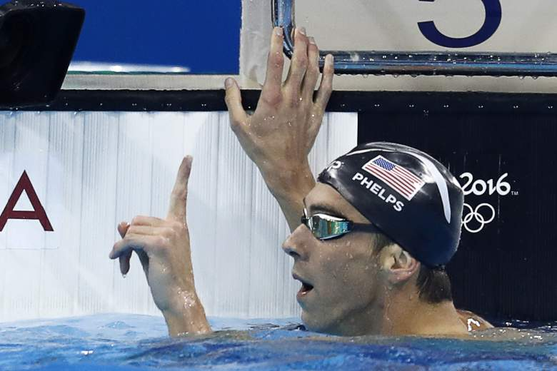 Michael Phelps finger wag, Michael Phelps 200m, Chad Le Clos, Rio Olympics
