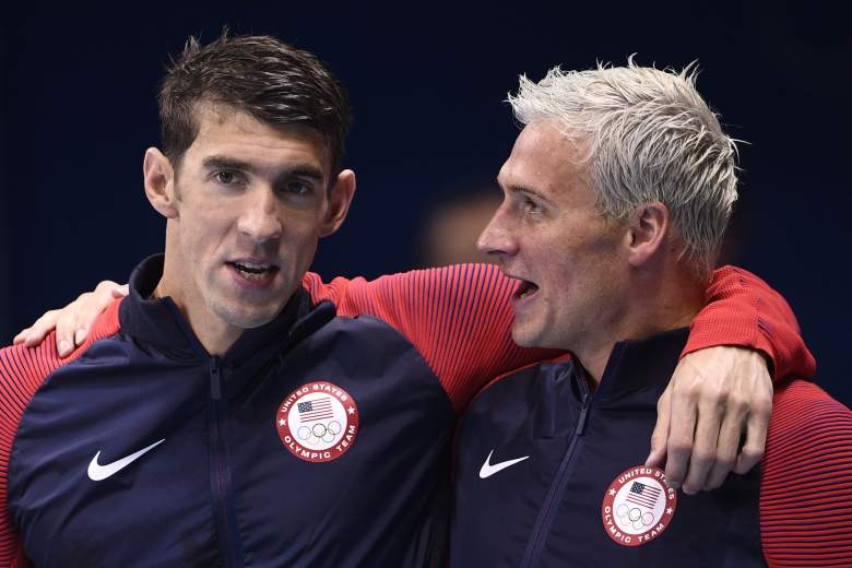 michael phelps and vs ryan lochte, medals, age, count, total, best times, stats, college