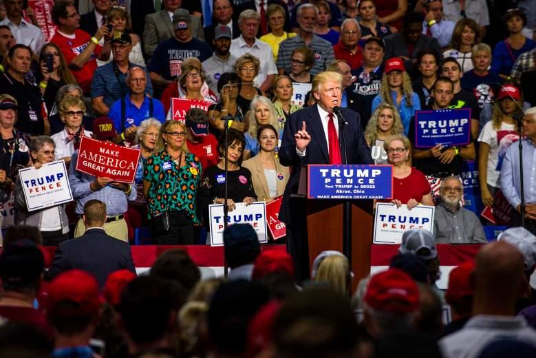 Donald Trump Akron, Donald Trump rally, Donald Trump Akron rally