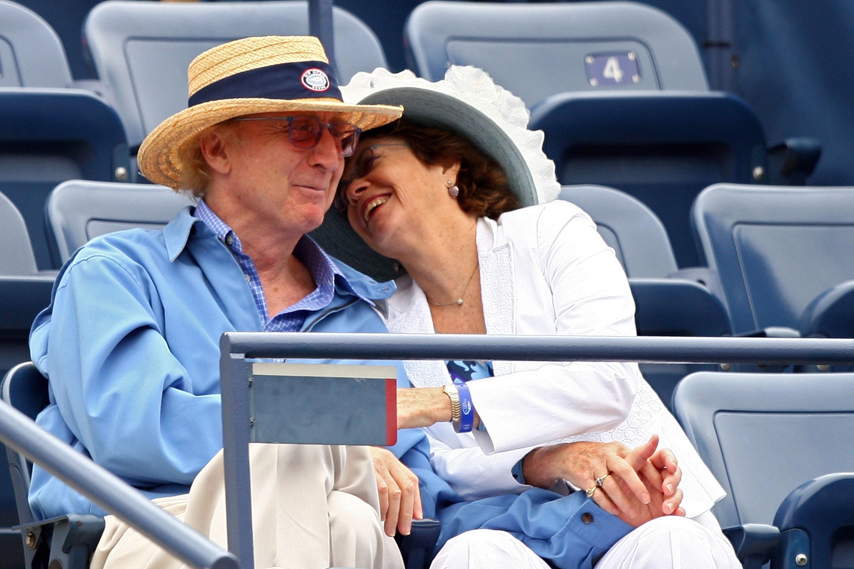 Gene Wilder with his wife, Karen Boyer, at the U.S. Open in 2007. (Getty)