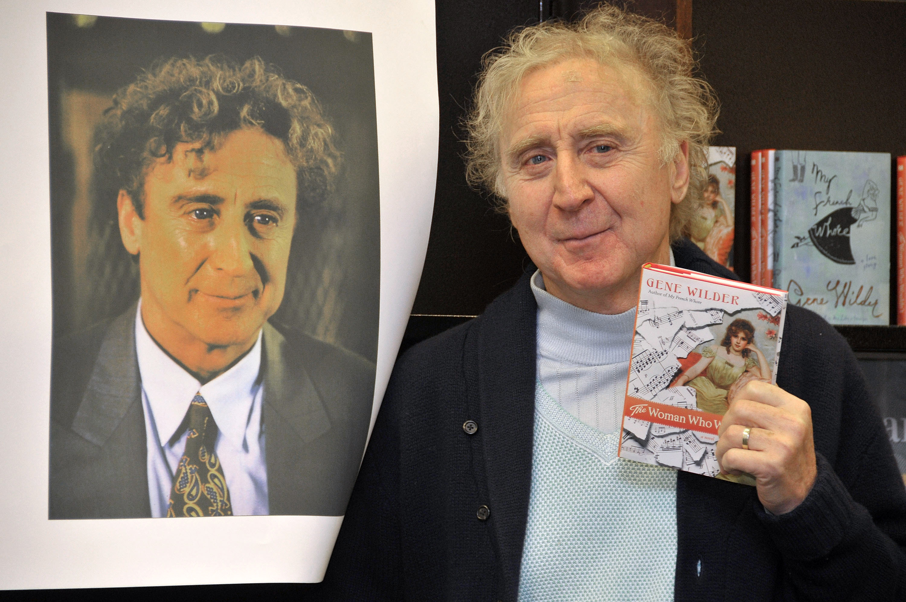 Actor and author Gene Wilder autographs copies of his new book 'The Woman Who Wouldn't' at Barnes & Noble Bookstore at The Grove on March 17, 2008 in West Hollywood, California.  (Getty)