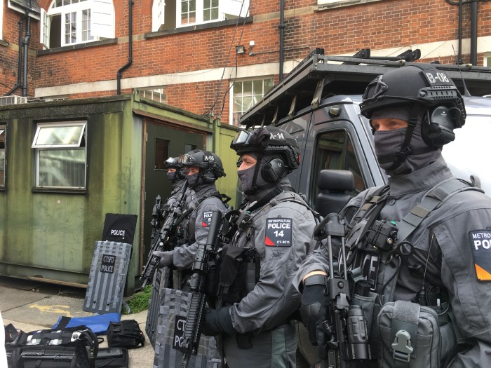 Counter Terrorism Specialist Firearms Officers as part of Operation Hercules. (Metropolitan Police)