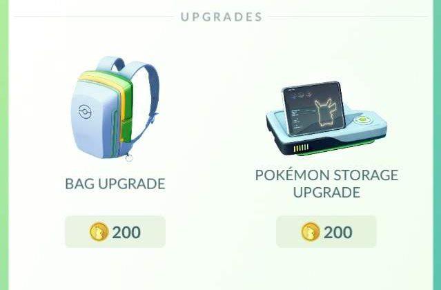 Pokemon Go Bag Upgrade, pokemon go bag, pokemon go inventory update