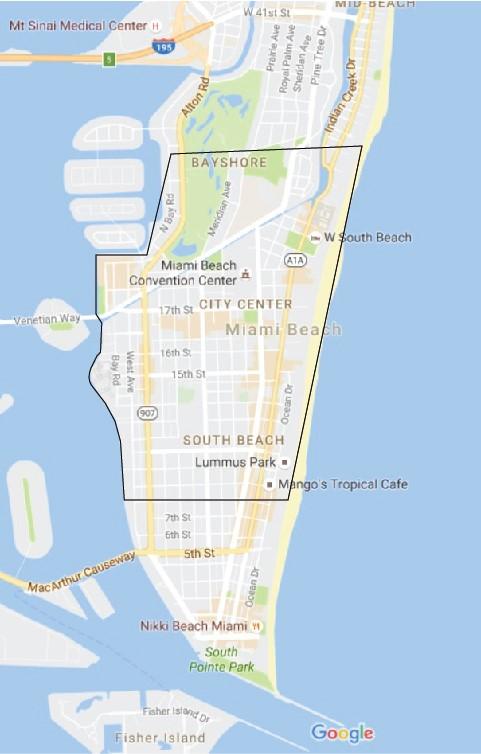 zika virus map, zika virus miami beach