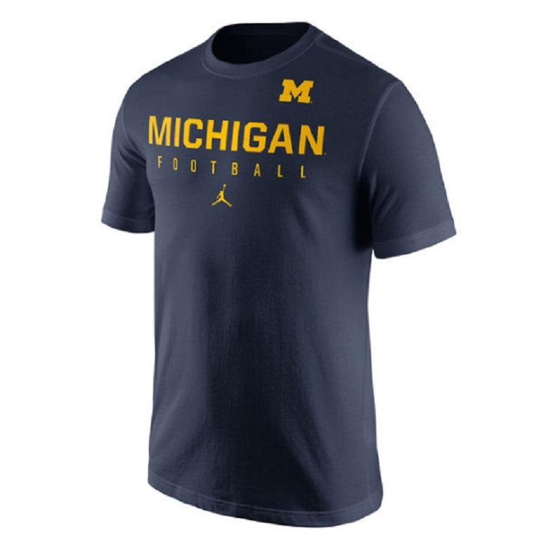 michigan wolverines nike jumpman jordan gear apparel football shirts