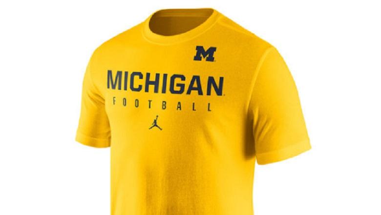 michigan wolverines football gear apparel jordan nike jumpman shirts hats
