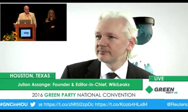 julian assange green party