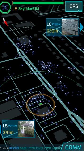 ingress map to track pokemon
