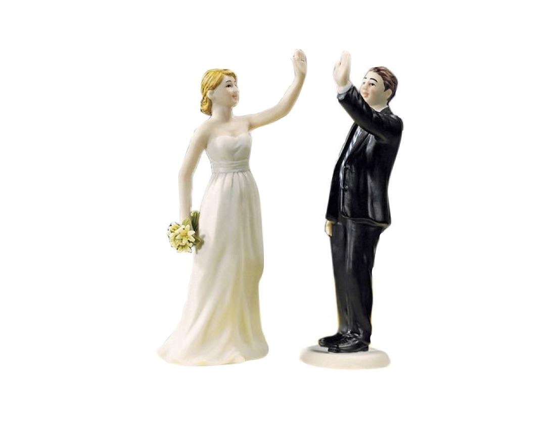 high five wedding cake topper
