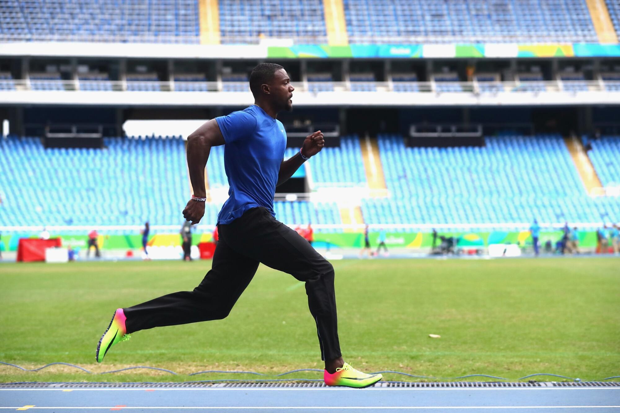 Justin Gatlin, Justin Gatlin running, Justin Gatlin career, Rio Olympics