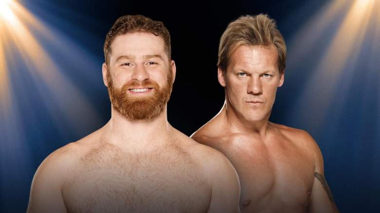 Chris Jericho Sami Zayn, Chris Jericho Sami Zayn clash of champions, Chris Jericho Sami Zayn match