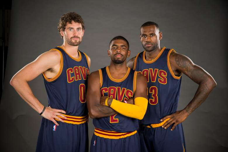 Kevin Love Kyrie Irving LeBron James Cleveland Cavaliers