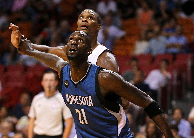 Kevin Garnett Chris Bosh Timberwolves vs. Heat