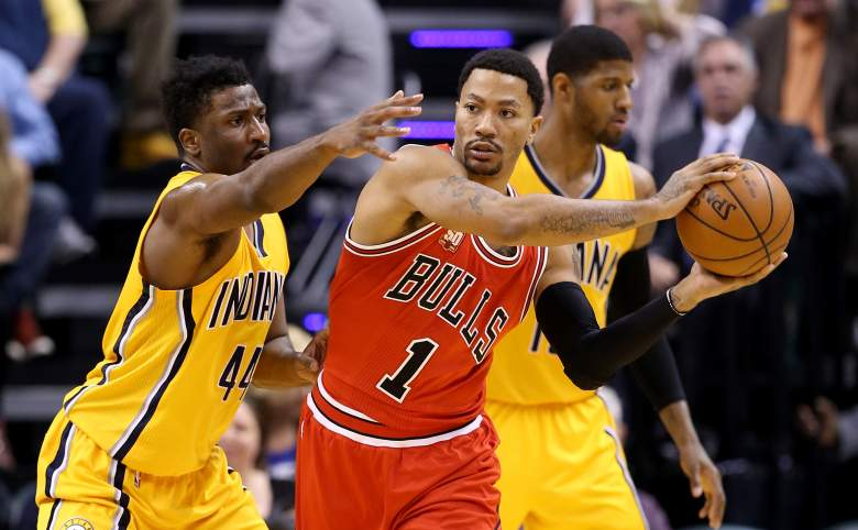 Derrick Rose Solomon Hill Bulls vs. Pacers