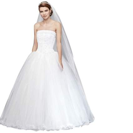 David's Bridal Tulle Wedding Dress