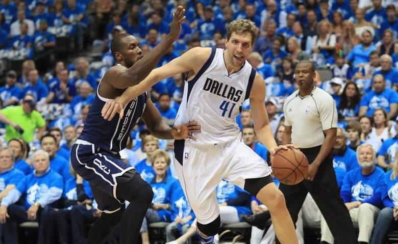 Dirk Nowitzki Mavericks vs. Thunder