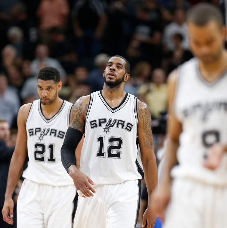 LaMarcus Aldridge Tim Duncan San Antonio Spurs