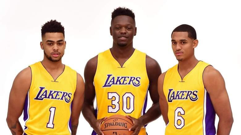 DAngelo Russell, Julius Randle, Jordan Clarkson Lakers