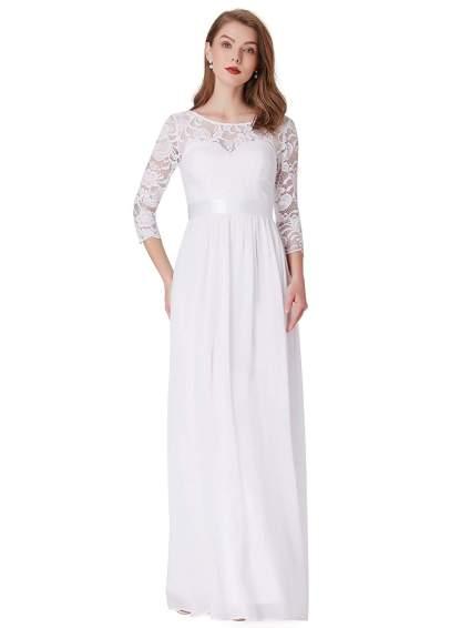 Ever Pretty long sleeve wedding dress