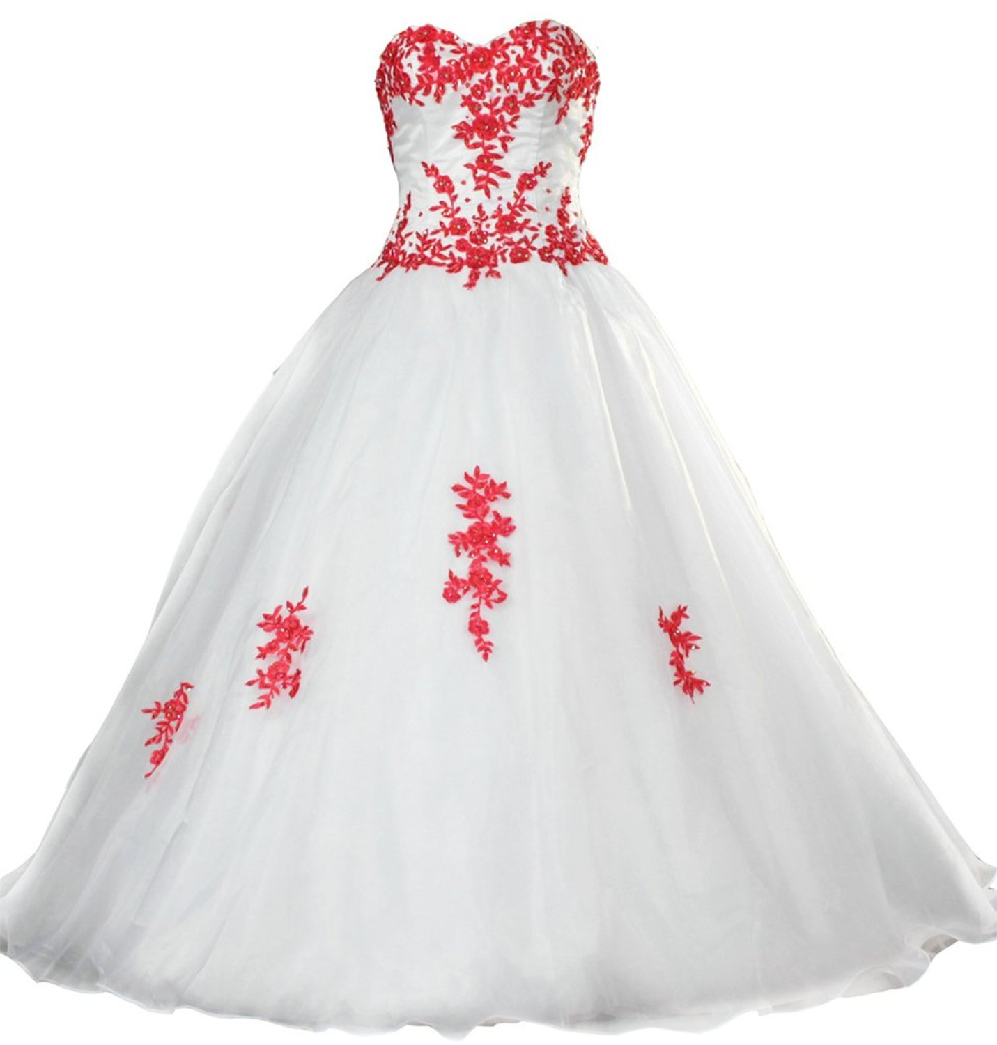 20 Best Red and White Wedding Dresses 20   Heavy.com