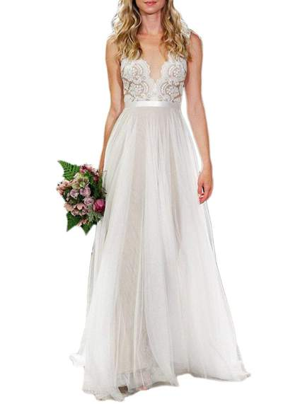 Ikerenwedding Lace & Tulle WeddingGown