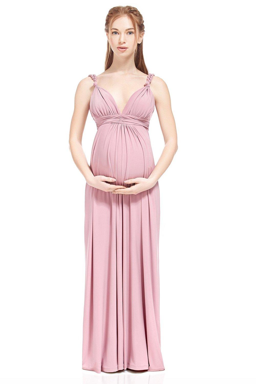 Pink Sue/&Joe Womens Long Bridesmaid Dress Lace Bodice Illusion Sweetheart Evening Dress 10
