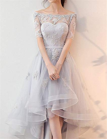 High Low Lace Gown