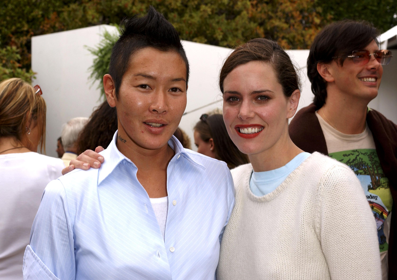 Angelina Jolie lesbian lover, Angelina Jolie bisexual, Angelina Jolie divorce, Jonny Lee Miller, Brad Pitt, Jenny Shimizu, Jenny Shimizu wife, Ione Skye