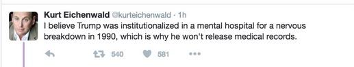 eichenwald, deleted tweet, newsweek, trump