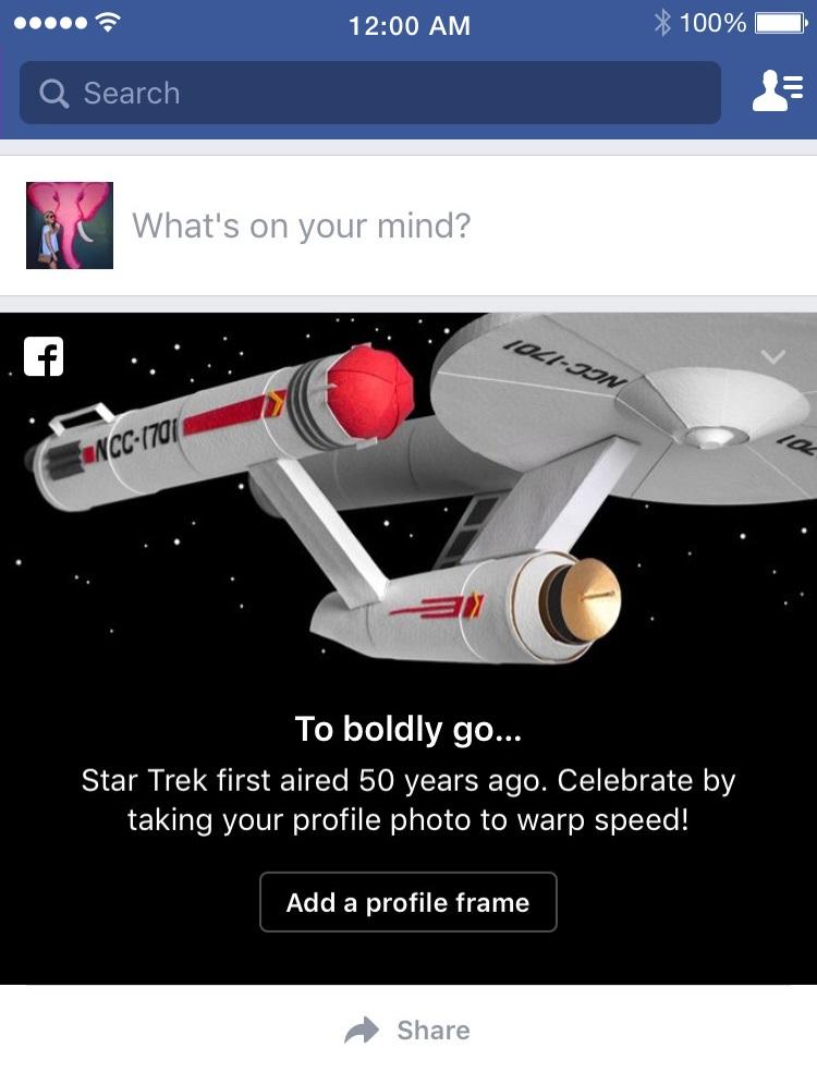 Star Trek, Star Trek 50, Star Trek Facebook