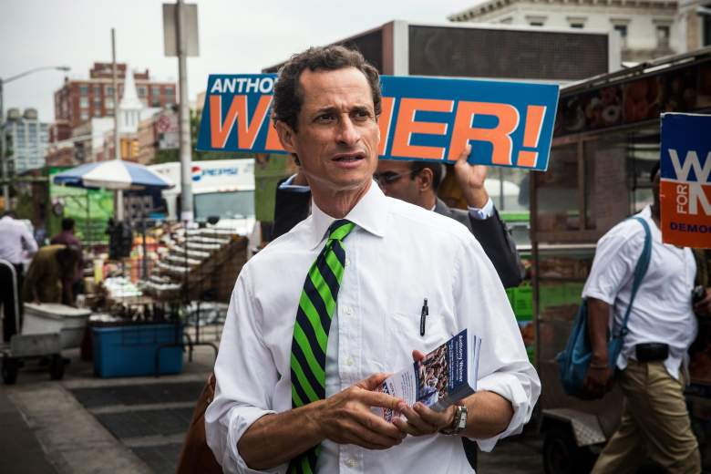 Anthony Weiner campaigns for New York City mayor in 2013. (Getty)