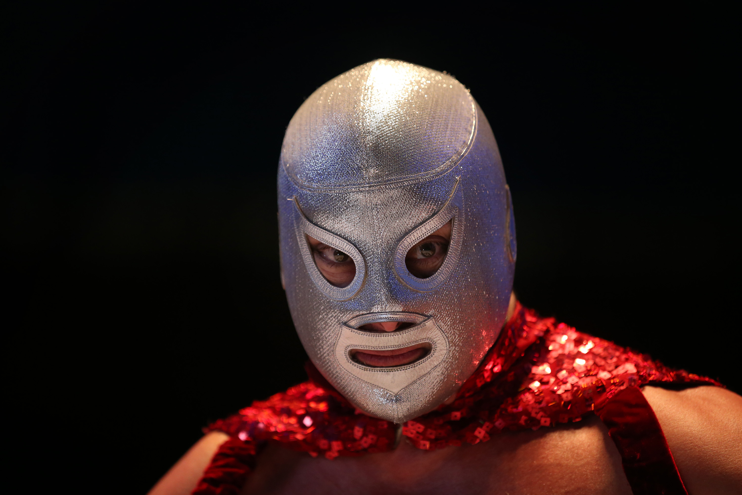El Hijo del Santo, who followed in his father's footsteps and became a wrestler. (Getty)