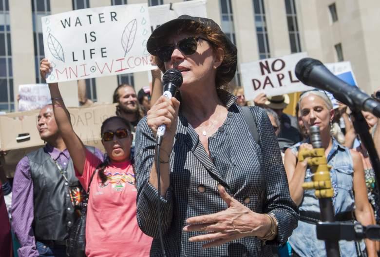 dakota access pipeline, susan sarandon