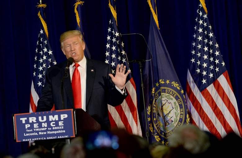 Trump new hampshire, trump laconia, trump rally new hampshire