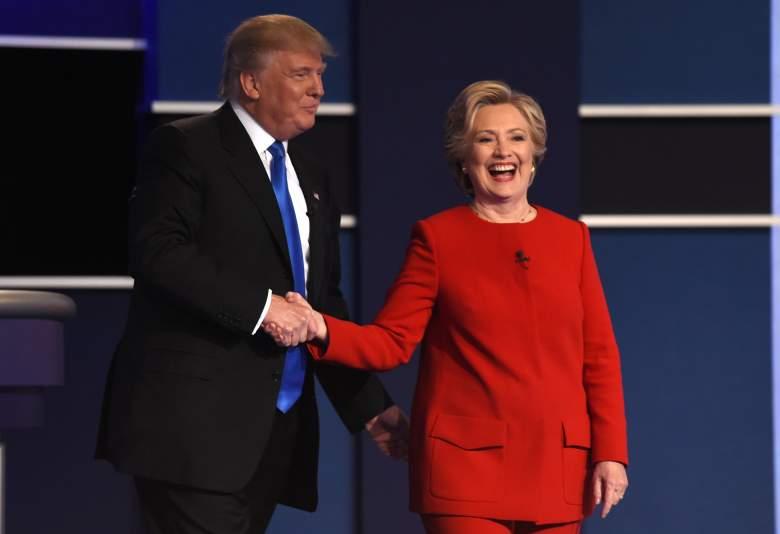 Trump Clinton Debate, Trump Clinton handshake, trump clinton first debate