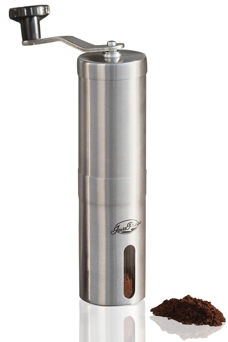 Manual Coffee Grinder Stainless Steel Conical Burr Mill for Beans Hand Crank